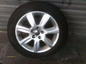"VW POLO 6R Mk8 2010-2014 MODELS 7 SPOKE 15"" ALLOY WHEEL AND TYRE 6R0 601 025 L"