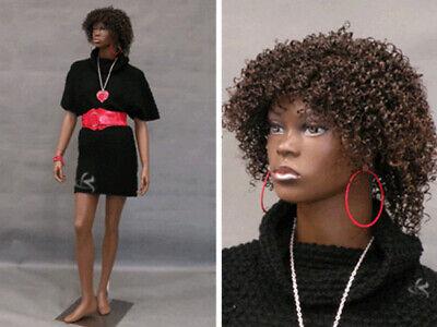 Pretty Black Female Fiberglass Mannequin Dress Form Display Md-ccdr4