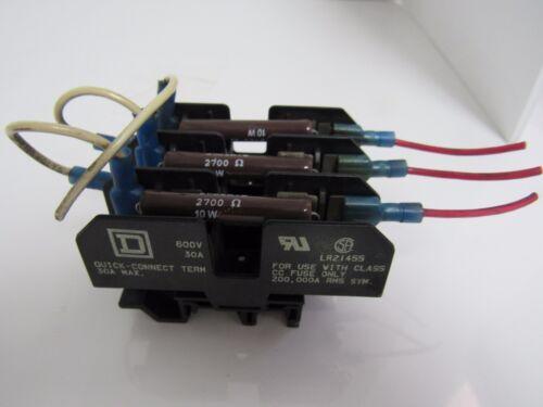 SQUARE D QUICK CONNECT LR21455 600V 30A W/3 OHMITE 20J2K7E RESISTORS