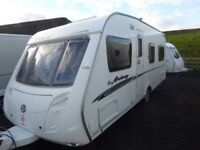 Swift Archway 18ft 4 berth fixed bed,corner washroom,FSH.Excellent.