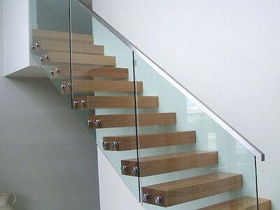 Custom Made Toughened & Polished Glass Balustrade Panels 12MM or 10MM
