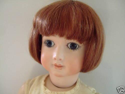 PERRUQUE LUC T7 (28.5cm) 100% cheveux naturels pour POUPEE ANCIENNE -DOLL WIG