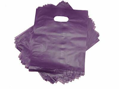 100 Purple Merchandise Bags Shopping Bags 12