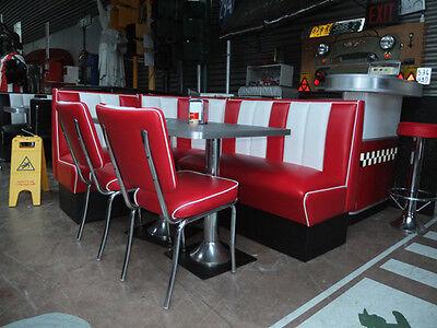 Bel Air Diner Sitzgruppe Bank Dinermöbel USA Dinerbank Tisch Dinertisch Eckbank