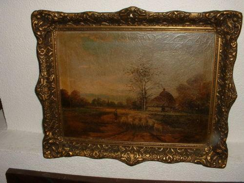 antique dutch oil painting ebay. Black Bedroom Furniture Sets. Home Design Ideas