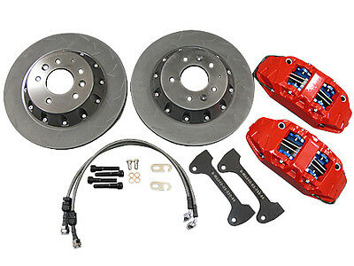 CXRacing Front Big Brake kit BBK 4 Piston Caliper 330x28 Rotor 01-07 EVO 7 8 9 L