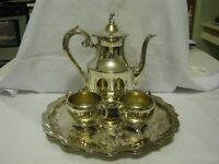 Wm.A. Rogers S/P 4pc Teapot Set