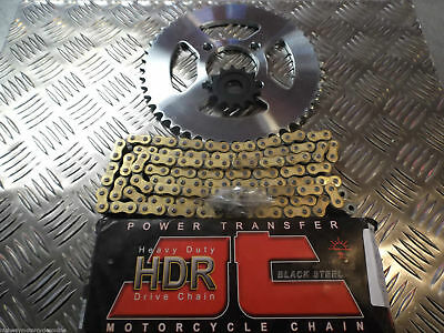 KEEWAY TX 125 TRAIL UPGRADE CHAIN AND SPROCKET KIT IMPROVES TOP END SPEED