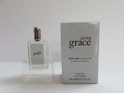 Philosophy Giving Grace Fragrance  33 Fl Oz  Mini Eau De Toilette  New No Box