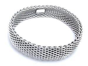 Tiffany Sterling Mesh Bracelet