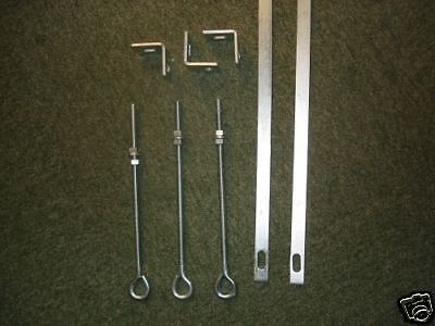 2x 7ft stretcher bars 3x 10mm eyebolts, 3x angle cleats