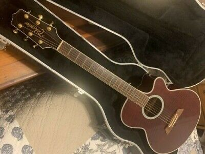 VERY RARE Takamine EF108WR, (Only 150 ever Produced) Gold Inlay, w/Original Case