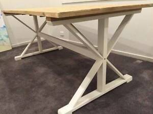 Timber Hamptons Dining Table / Desk Thirroul Wollongong Area Preview