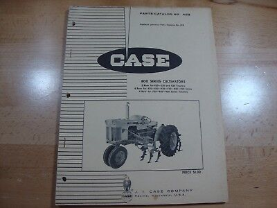 Case 800 Series Cultivator Parts Catalog Manual No. A818 1967 823 843 846 866