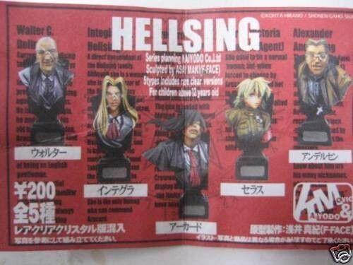 Kaiyodo Hellsing Gashapon Bust Figure SECRET 6 pcs set