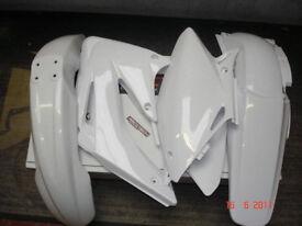 New Plastic Kit CRF 450 02-04 White Motocross Enduro