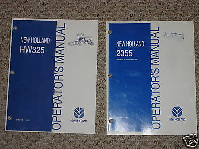 New Holland Hw325 2355 Disc Mower Windrow Owners Maintenance Manual