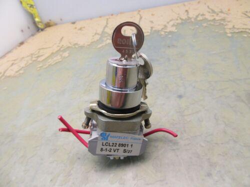 Mafelec LCL22 8901 1 8-1-2 VT key switch 230/400V 8/4A keyed [2*F-9]