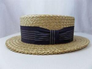 abb4bc85eec Vintage Boater Hats