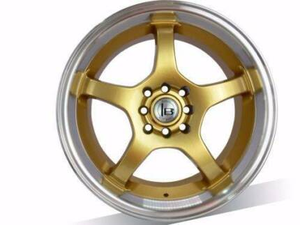 1X18 INCH GOLD Wheel suits SUBARU, CAMRY, AURION,ACCORD,LANCER,