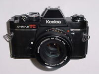 konica 35mm slr with 50mm lens