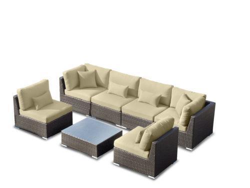 Wicker Outdoor Furniture Sofa Set