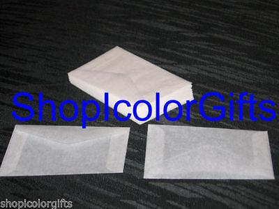 ShopIcolorGifts- 25 Brand New Glassine Envelopes Size #2 (2-5/16 x 3-5/8)