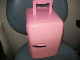 6L PINK PORTABLE COOL ELECTRIC AND CAR COOLER WARMER CAR