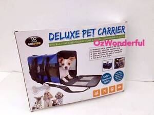 DELUXE PET CARRIER Fordable Travel Carry Cage Dog Cat Rabbit Epping Whittlesea Area Preview