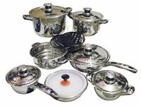 17pc Royal Induction Pot set with Case - As New Never Used
