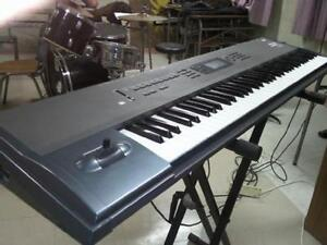 Korg N264 Workstation /amplifier and 2 speakers stand included