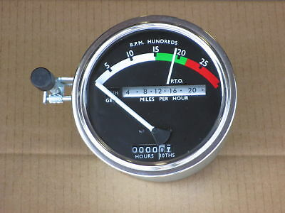 Tachometer W White Needle For John Deere Jd 3010 4000 4010 4020 4320 4520 4620