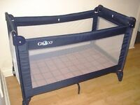 Graco Contour Electra Travel Cot/Playpan- almost new