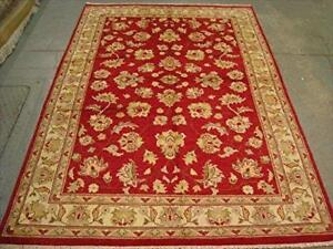 Gorgeous Rare Chobi Zeigler Mahal Vegetable Dyed Area Rugs Hand Knotted Carpet (8.1 x 5.7)'