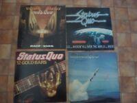 Status Quo Vinyl LP Album Joblot Of 4 12 Gold Bars Rockin All Over The World/Back to Back