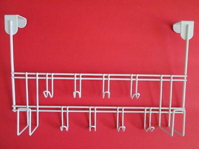 Over the Door Hanger. Metal coated white material size 15
