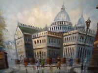 Impressionist Oil Canvas Painting St Paul's Cathedral Landscape