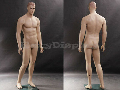 Male Fiberglass Realistic Mannequin With Molded Hair Dress From Display Mz-wen5