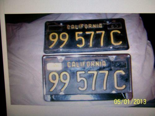 california black and yellow license plates ebay. Black Bedroom Furniture Sets. Home Design Ideas
