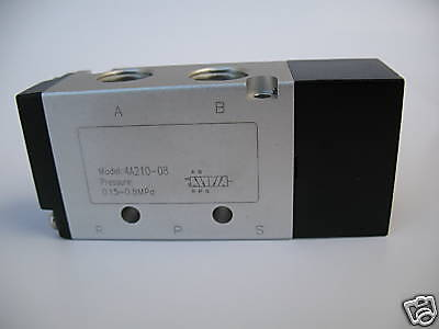1pc 3 Way 2 Position Air Piloted Pneumatic Valve 14 Npt Mettleair 3a210-08