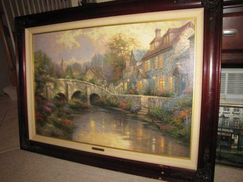 Thomas kinkade 24x36 ebay for Glynda turley painting