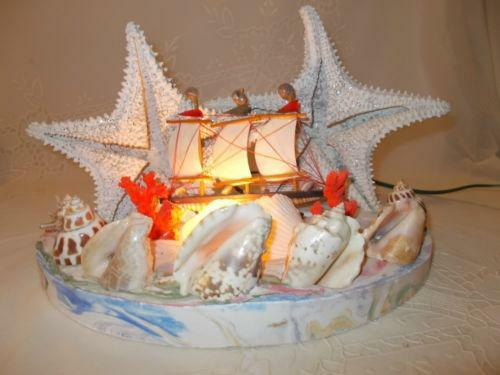 Vintage Sea Shell Lamp Ebay