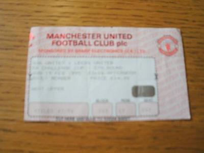 19/02/1995 Ticket: Manchester United v Leeds United [FA