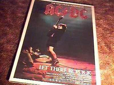 AC DC LET THERE BE ROCK 27X41 ROLLED MOVIE POSTER 1982
