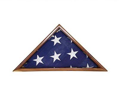 US AMERICAN AROMATIC CEDAR FLAG DISPLAY CASE 5X9 VET a (Us Flag Display Case)