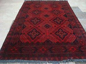 Exclusive Afghan Khal Muhamadi Designed Rectangle Area Rug Hand Knotted Wool Carpet (6.4 x 4.1)'