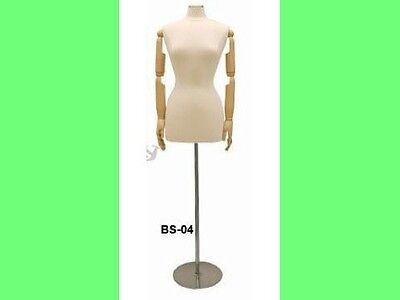 Female Mannequin With Movable Head And Arms Dress Form Jf-f68warmbs-04