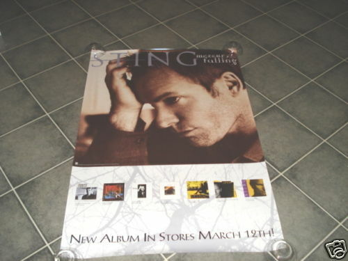 Sting 24X36 RARE 1996 Record Store Promo Poster Photo The Police