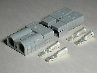 Authentic Anderson Sb50 Connector Kit Gray 6 Awg 6319 2 Pack 2 Connectors