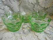 Green Depression Glass Sherbert